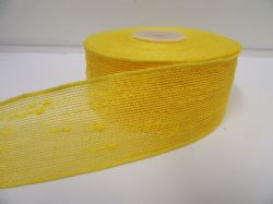 2 metres or 10 metre Roll 25mm 38mm Canary Yellow Vintage Slub Ribbon Cotton Net Bouncle